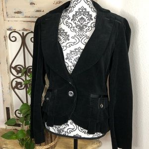 WHBM black corduroy blazer